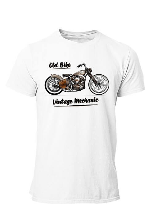 T-shirt Old Bike Moto Vintage Mechanic