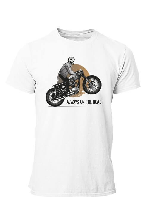 T-shirt Moto Always on the road Homme manches courtes