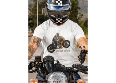 T-shirt Moto Always on the road Homme manches courtes (modèle taille M)