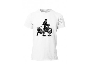 T-shirt Moto Let's ride the dog Homme manches courtes