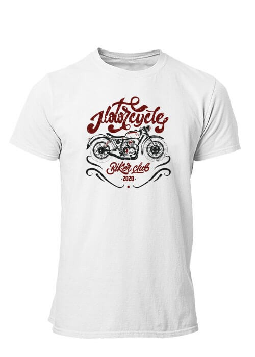 T-shirt Motorcycle Custom Style manches courtes (modèle taille S)
