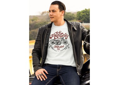 T-shirt Motorcycle Custom Style manches courtes (modèle taille M)