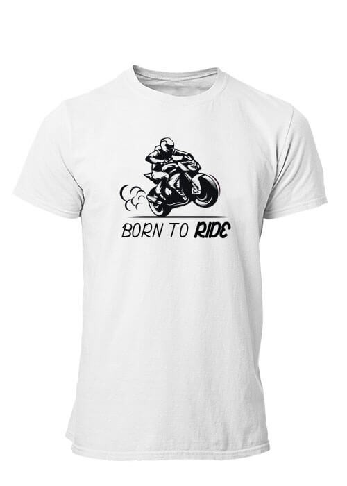 T-shirt Born to Ride manches courtes