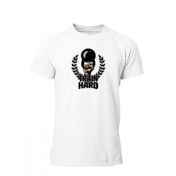 Tee shirt Train Hard Fitness musculation Homme manches courtes