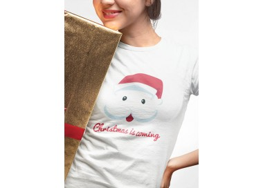 T-shirt Christmas is coming Femme manches courtes