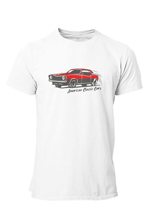 T-shirt American Classic Cars Homme manches courtes