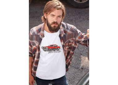 T-shirt American Classic Cars Homme manches courtes (modèle taille S)